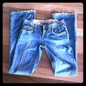 Stitch's bootcut Jeans in distressed Vintage sz 26